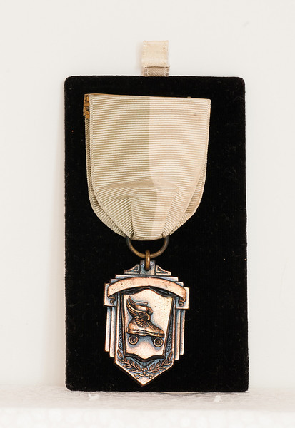Vivian Nolin won this skating medal in Northampton, Massachusetts