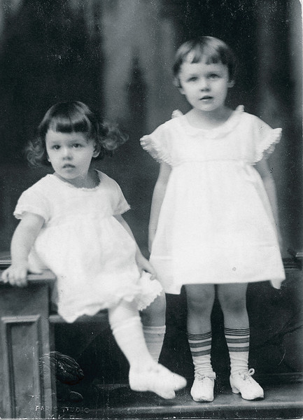 Vivian Nolin (on right) with sister Erline, about 1920