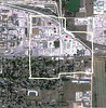 2011 satellite photo of the same area as the 2005 photo, showing that the probable location of the house is now under an industrial development, presumably part of the recycling center that now occupies the center right part of the property