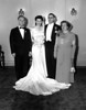 Wedding of Naomi Bloom and Carl Rothschild,<br /> 9/1/1946, Anshe Chesed, New York, NY<br /> <br /> Dave Bloom, Naomi Bloom, Carl Rothschild, Kate Rosen Bloom