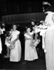 Wedding of Naomi Bloom and Carl Rothschild,<br /> 9/1/1946, Anshe Chesed, New York, NY<br /> <br /> left to right:  ?, Patricia Miller,Toby Dincin, Miriam (Mimi) Miller, Delma Miller