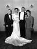 Wedding of Naomi Bloom and Carl Rothschild,<br /> 9/1/1946, Anshe Chesed, New York, NY<br /> <br /> Roscoe Rothschild (Carl's father Mervin's brother - Mervin was in China), Naomi Bloom, Carl Rothschild, Sadie Rothschild