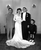 Wedding of Naomi Bloom and Carl Rothschild,<br /> 9/1/1946, Anshe Chesed, New York, NY<br /> <br /> Daniel Bloom, Naomi Bloom, Carl Rothschild, Andrew Tanner