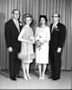 Wedding of Lester Rosen and Muriel Pinkert, 1965<br /> <br /> John Rainer, Shirley Stein, Muriel Pinkert, Lester Rosen