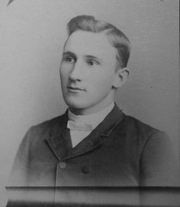 Clarence Benjamin Werts about 20 years old. 1890