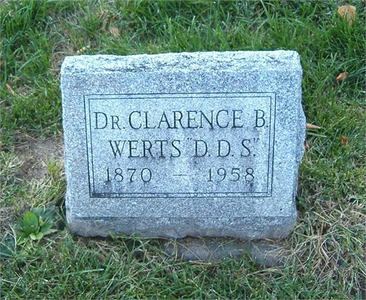 Dr. Clarence Benjamin Werts DDS Ladoga, IN