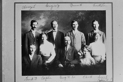George Peter Wesley Werts Family circa 1907