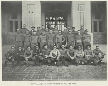 Northwestern Football Team 1910. Clarence Werts 3rd from left - rear row.