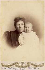 Nellie Werts and Clarence circa 1891