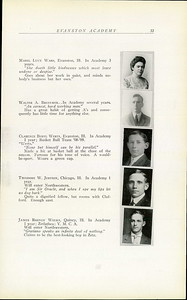 Evanston Academy 1909