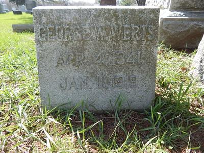 George Peter Wesley Werts Headstone Aledo, IL