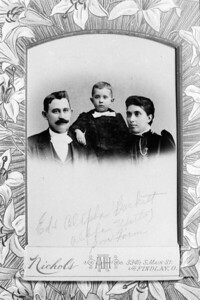 Ed and Aplha (Werts) Burkett with son Firm