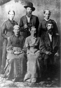Betterton Family. Frances B. Standing left.