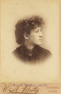 Nellie Werts. Date unknown. Most likely early 1890's.