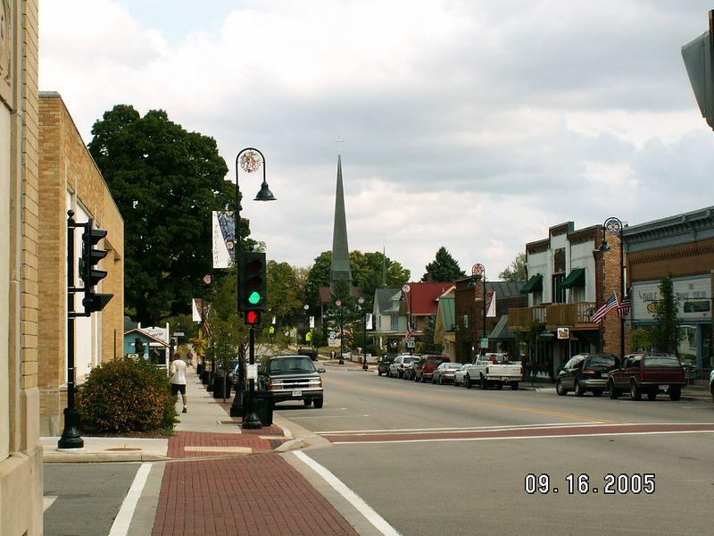 Grandma & Grandpa Dahlen's Lutheran church steeple -- east end of Main St.  (corner of 4th St -- their street)