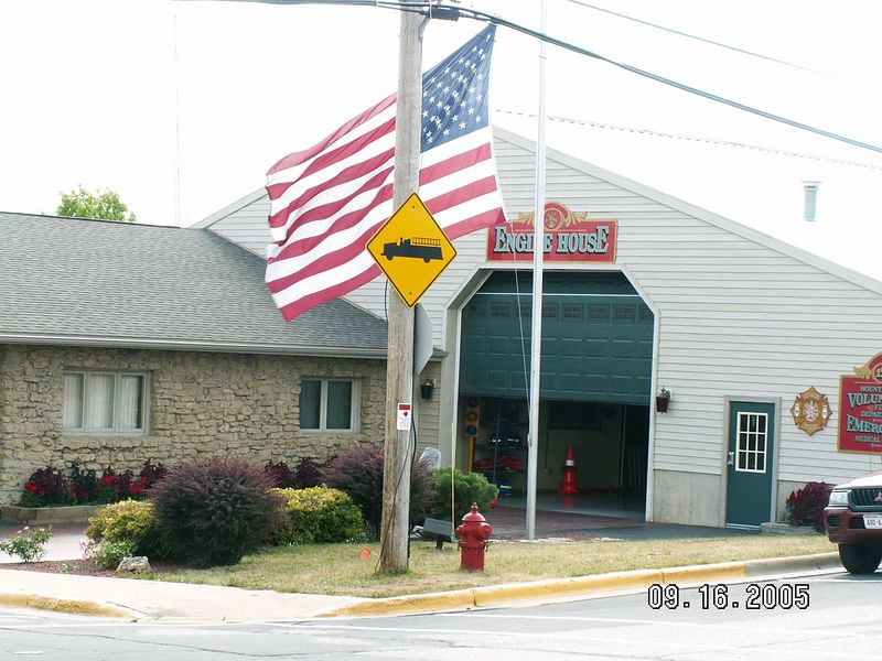 The new Fire Station, but still a volunteer fire dept. (Grandpa Dahlen was a volunteer, and once was Fire Chief)
