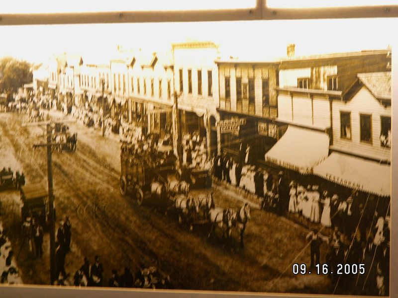Downtown Mt. Horeb in the 1800's (picture on the wall of Shuberts / Olsens restaurant)