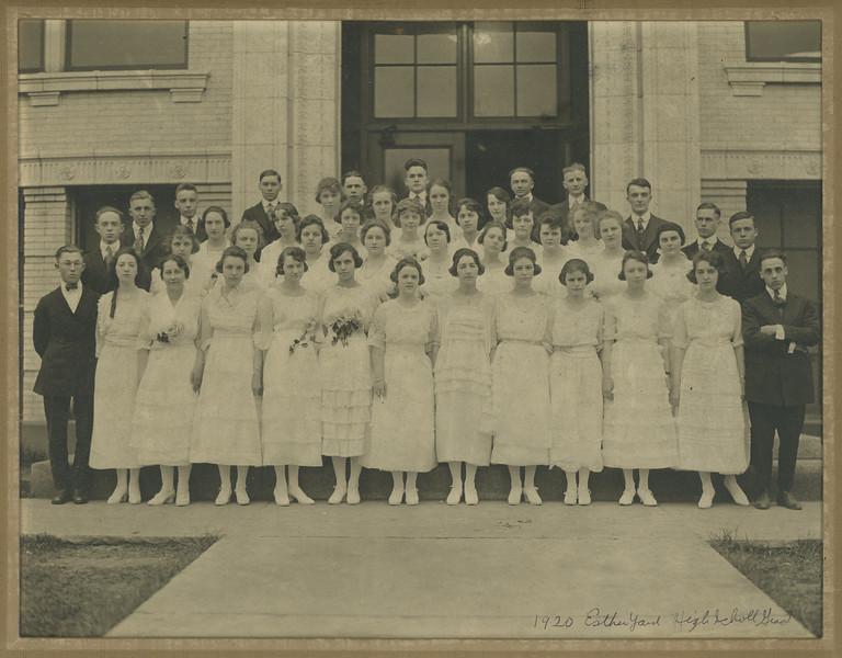 Graduating Class, Kane High School, 1920