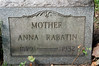My grandmother Anna Rabatin, Wife of George Rabatin Holy Trinity Lutheran, Cemetery Hermitage pa