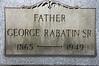 George Rabatin Sr. Holy Trinity Lutheran, Cemetery Hermitage pa