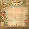 ANDREW RABATIN SR. SLOVAK BAPTISM DOCUMENT FROM CHURCH 1920'S