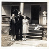 Nancy Elizabeth Testa left, possibly Tony Peters and my mother Mary Palladino Testa in front of the house on Rudyard at 820 Rudyard St. Cleveland. Ohio