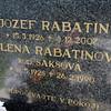Kalava cemetary Josef Rabatin Lena Rabatinova