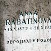 Anna Rabatinova, Kalva Cemetary, Slovia. Kalava cemetary