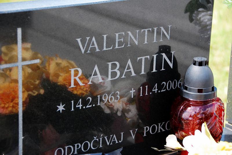 Kalava cemetery Valentin Rabatin 1963-2006