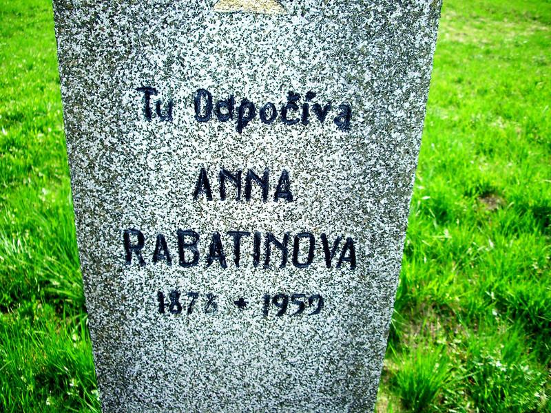 Anna Rabatinova grave slovakia