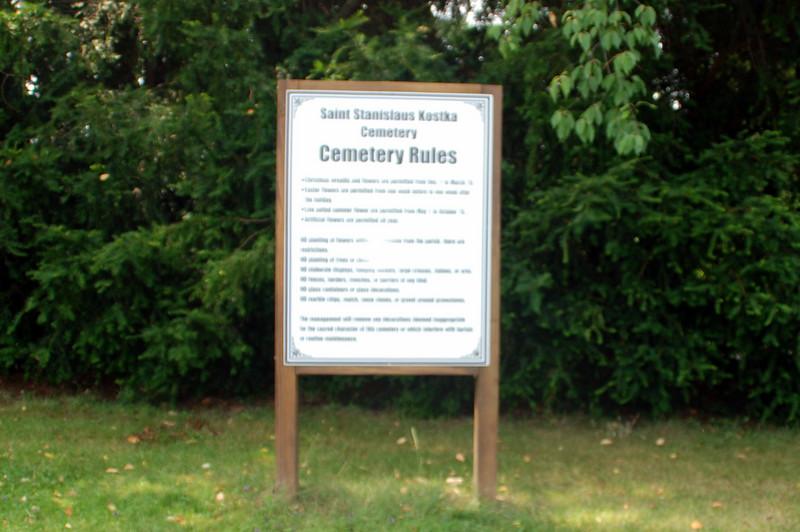 Saint Stanislaus Cemetery site of umarked grave of John Rabatin