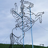 "The Enchanted Highway, Regent, ND.<br /> ""Teddy Roosevelt Rides Again"""