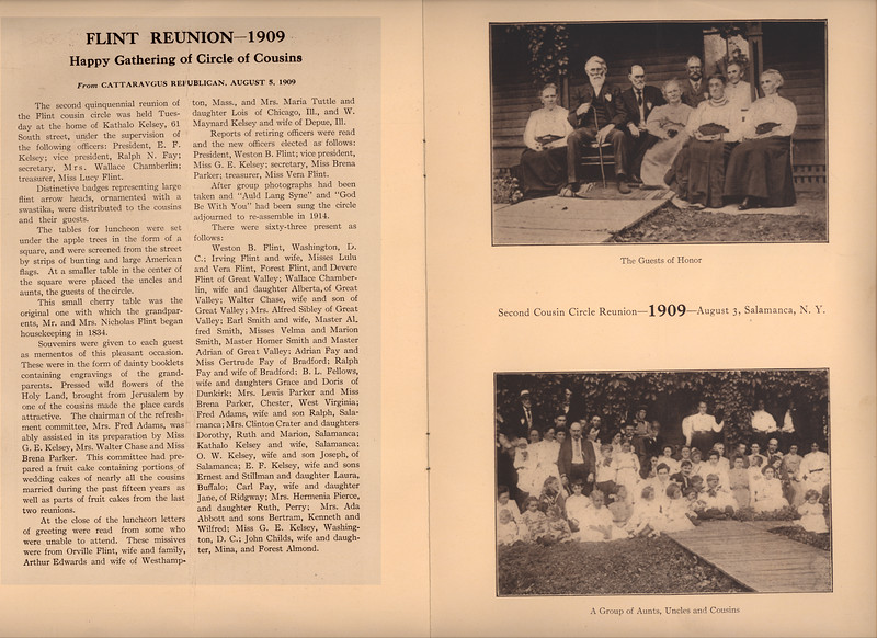 The 1909 reunion report and photos