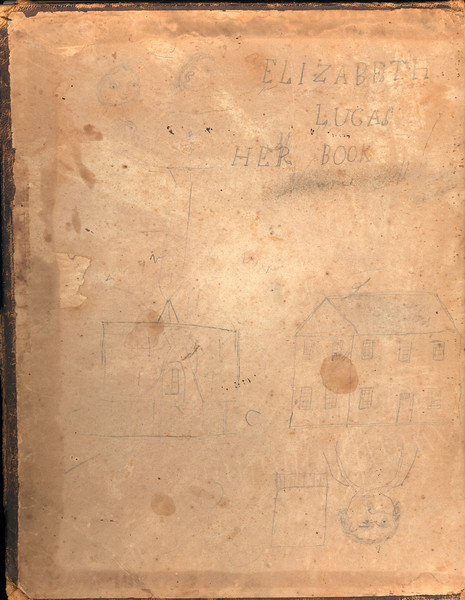Inside cover of Lucas family bible