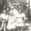 Helen: Lucille Bullington Beaver, Coreena T. Sanders James, Dorothy Bullington West & 2 sisters-in-law of Dorothy's in the back, Joyce West & Mary Ann West.