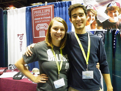 Phillips Legacy Scholars Whitney Peters (TCU) and Wesley Gentle (TCU)