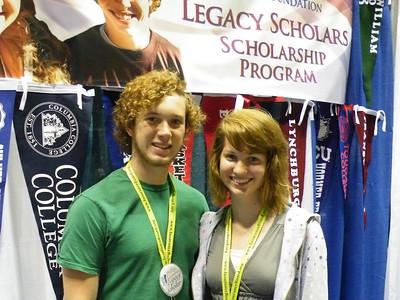Phillips Legacy Scholars Stephen Wilson (TCU) and Miriam Clarke (Hiram College)