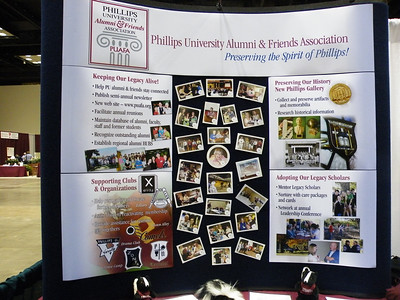 For those of you who were unable to attend General Assembly, this is the PUAFA display.  The pictures in the center were from our June reunion in Enid.