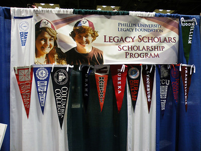 PU Legacy Foundation display honoring our Legacy Scholars and schools they attend