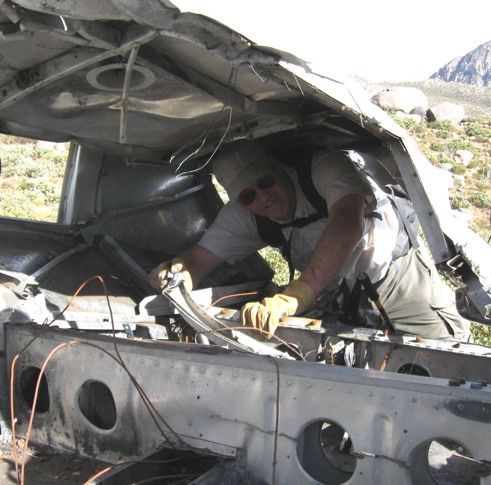 Very little remained of the aircraft's interior cabin. (Photo courtesy of Trey Brandt)