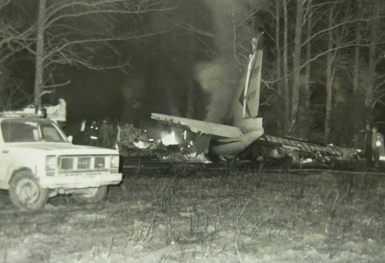 At 5:14 PM, the cross-country flight of N711Y ended with a fireball in a farmer's cow pasture. The response time was quick for emergency responders, but the severity of fire was more than most of their equipment could handle.