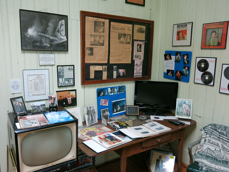 "A portion of this room was devoted to Rick Nelson and the tragic accident that claimed his life and others. The other half of the room is devoted to the late actor Dan Blocker of TV's ""Bonanza""."
