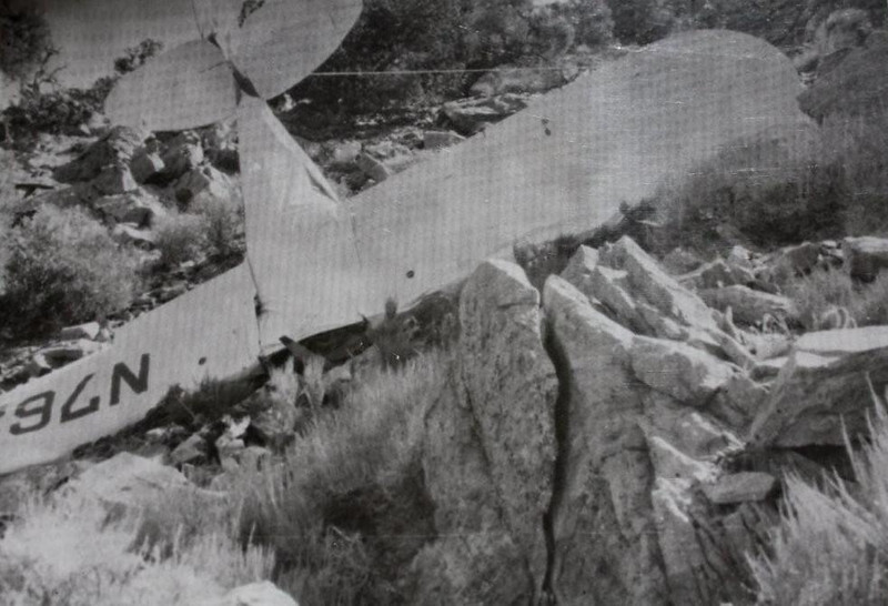 The aircraft came down in steep rocky terrain. The weather was clear on the date of the accident leaving CAA Accident Investigators to believe that Whittaker may have encountered a strong downdraft or simply stalled the aircraft while maneuvering. (Photo courtesy of Scroggins Aviation)