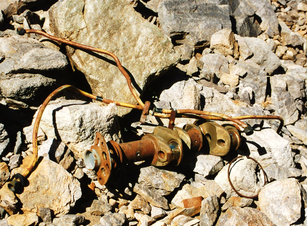 The crankshaft from the Lycoming O-320 engine. It appears the engine was examined on-site by the CAA Accident Investigators. <br /> <br /> Today, these types of engine components are removed from crash sites for closer analysis.