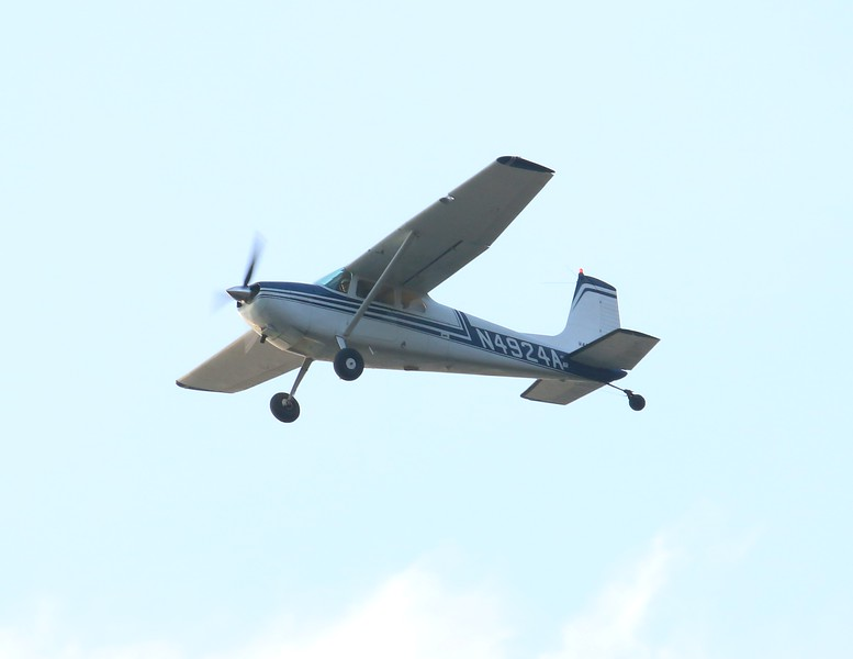 1956 Cessna 180 over Hammonasset Park Madison, CT