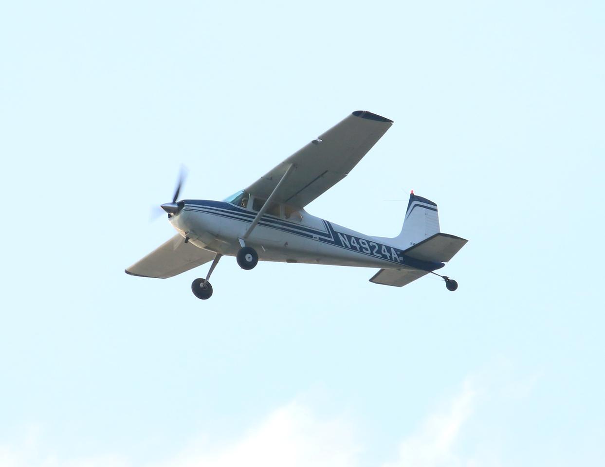 1956 Cessna 180 over Hammonasset Park Madison, CT