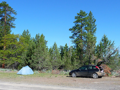 Car camping, near Alturas, CA.