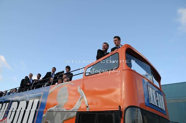 St Johnstone FC - Champions - Open Top Bus Tour at Mc Diarmid