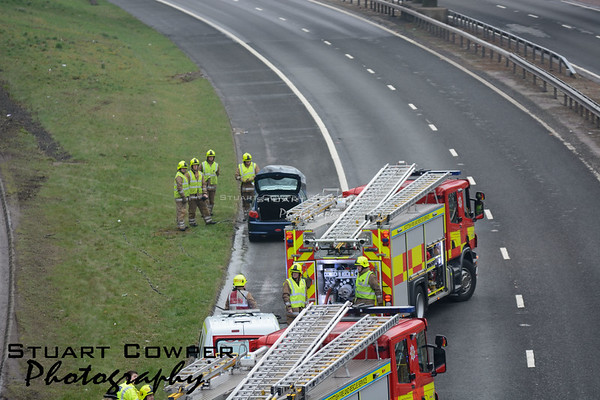 Car Fire - M90 Perth