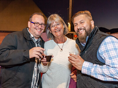 A few of the Sideways Fest event organizers:  Philip Carpenter and Barbara Satterfield (Sta. Rita Hills Wine Alliance), with Alex Neal